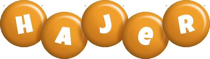 Hajer candy-orange logo