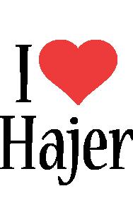 Hajer i-love logo