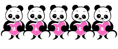 Hajer love-panda logo