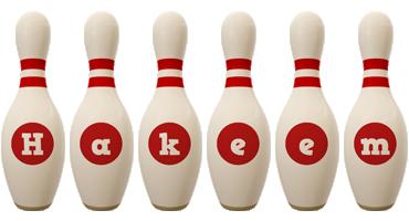 Hakeem bowling-pin logo