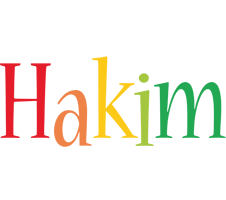 Hakim birthday logo