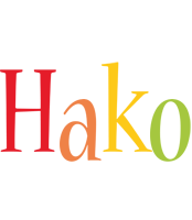 Hako birthday logo