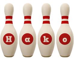 Hako bowling-pin logo