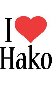 Hako i-love logo