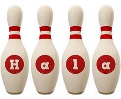 Hala bowling-pin logo
