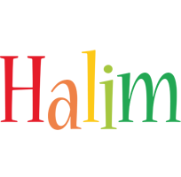Halim birthday logo