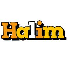 Halim cartoon logo