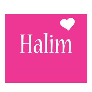 Halim love-heart logo
