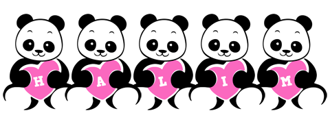 Halim love-panda logo