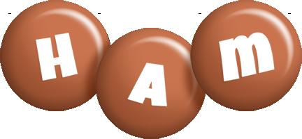 Ham candy-brown logo