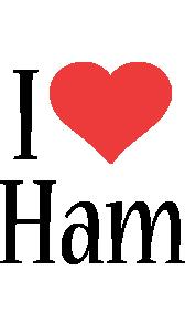 Ham i-love logo