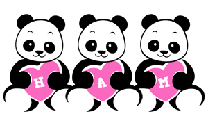 Ham love-panda logo