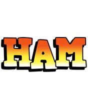 Ham sunset logo