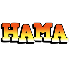 Hama sunset logo