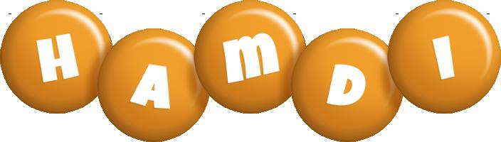 Hamdi candy-orange logo