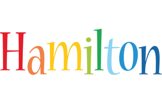 Hamilton birthday logo