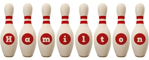 Hamilton bowling-pin logo