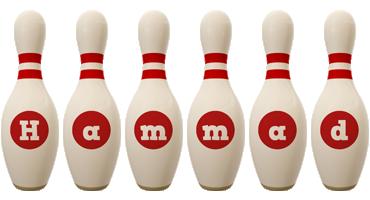 Hammad bowling-pin logo