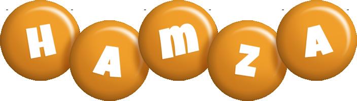 Hamza candy-orange logo