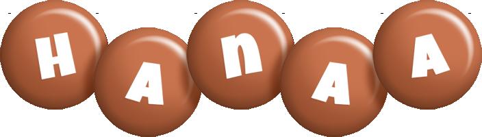 Hanaa candy-brown logo