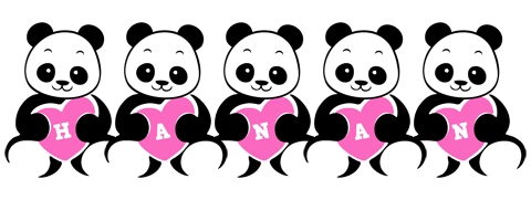 Hanan love-panda logo