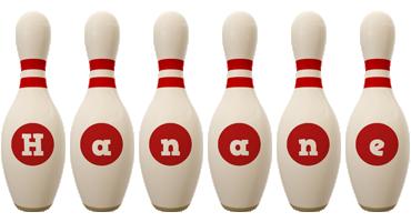 Hanane bowling-pin logo