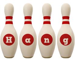 Hang bowling-pin logo
