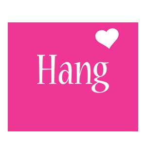 Hang love-heart logo