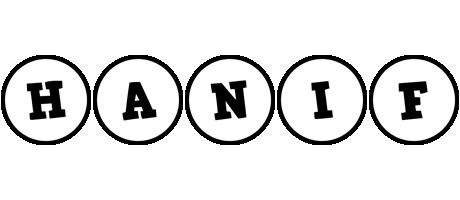 Hanif handy logo