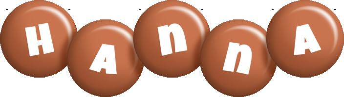 Hanna candy-brown logo