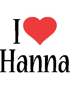 Hanna i-love logo