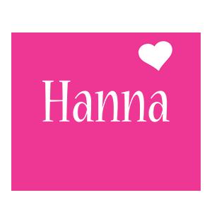 Hanna love-heart logo