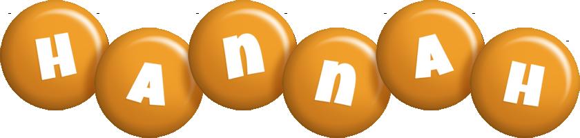 Hannah candy-orange logo