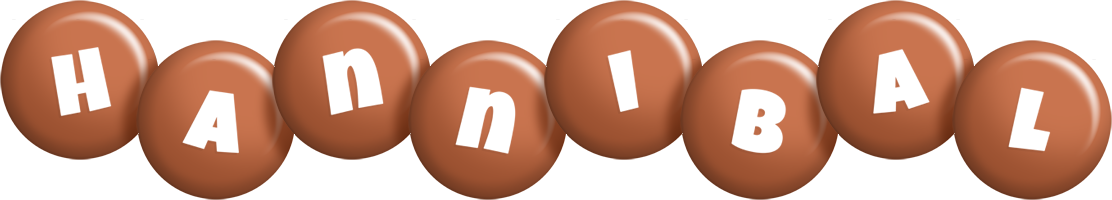 Hannibal candy-brown logo