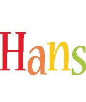 Hans birthday logo
