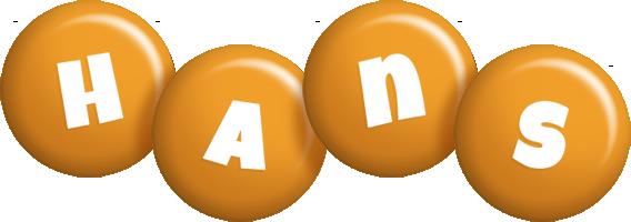 Hans candy-orange logo