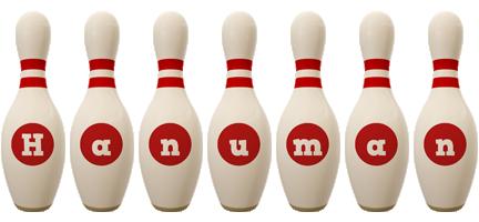 Hanuman bowling-pin logo