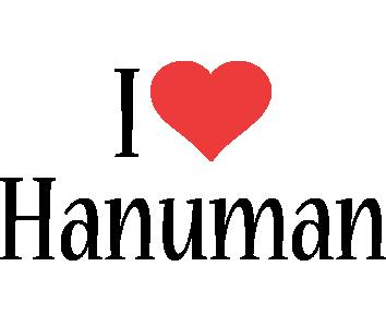 Hanuman i-love logo