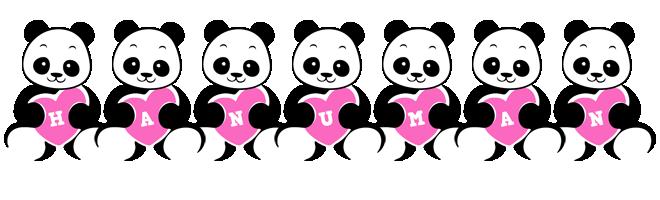 Hanuman love-panda logo