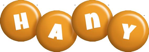 Hany candy-orange logo