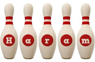 Haram bowling-pin logo