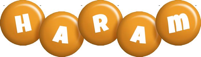 Haram candy-orange logo