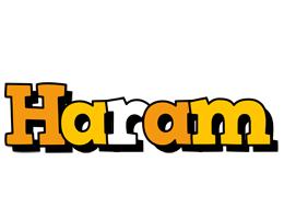 Haram cartoon logo