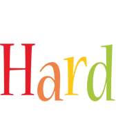 Hard birthday logo
