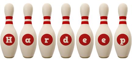 Hardeep bowling-pin logo