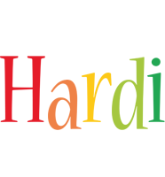 Hardi birthday logo