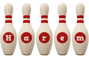 Harem bowling-pin logo