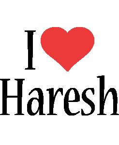 Haresh i-love logo