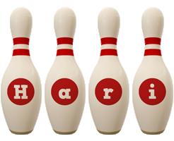 Hari bowling-pin logo