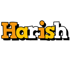 Harish cartoon logo